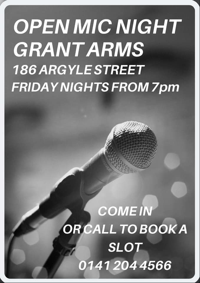 Grant arms open mic